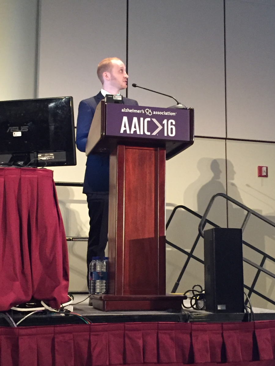Jake Vogel presenting at AAIC